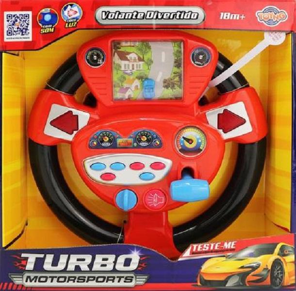 Volante Musical Infantil Pista Real Vermelho - Toyng 42888