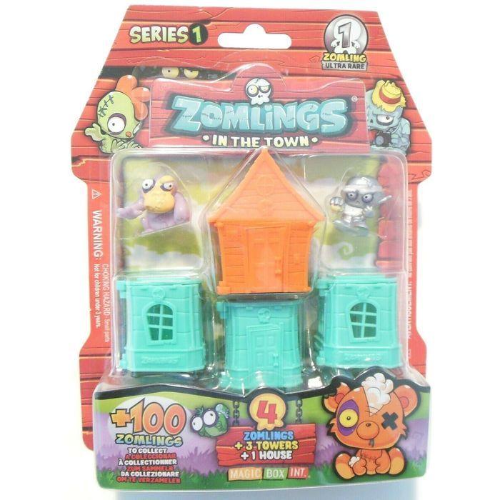 Zomlings Bairro Zombie Surpresa Serie 1 Azul  - Fun  82709