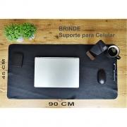 Mousepad Grande 90x45cm Gamer em Couro Legítimo com Brinde