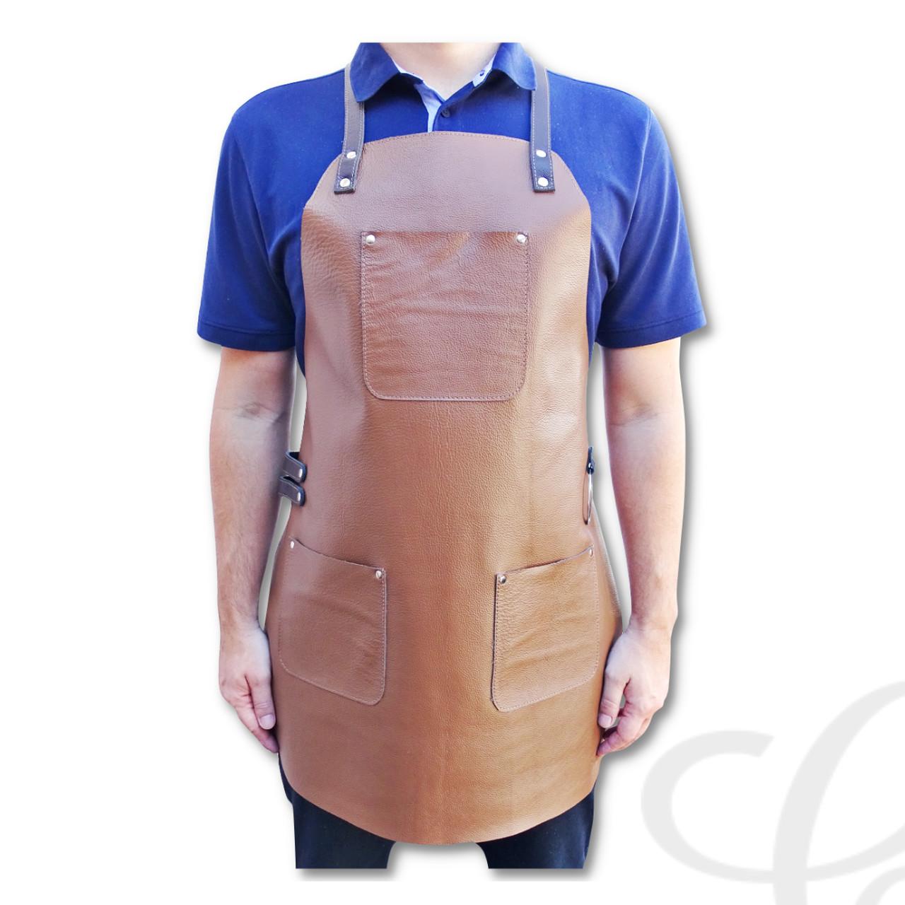 Avental de Churrasco em Couro Churrasqueiro Assador Chefe de Cozinha Premium
