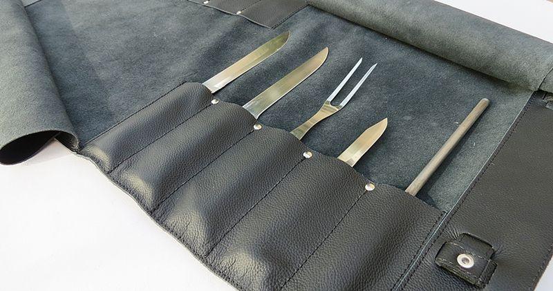 Estojo para facas Top Chef para 11 peças de 12 polegadas.