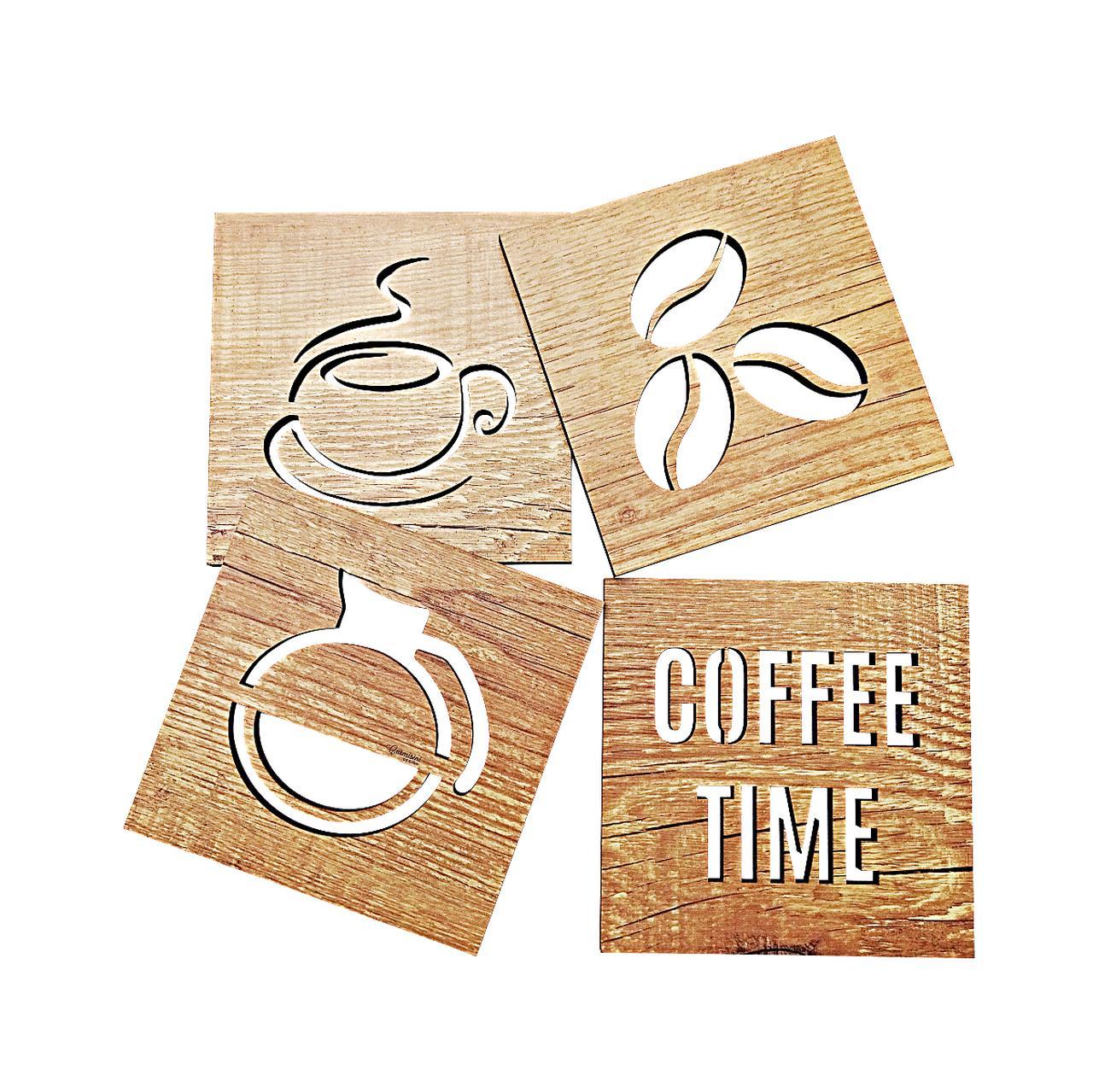 Quadros Cozinha Cantinho do Café Kit com 4