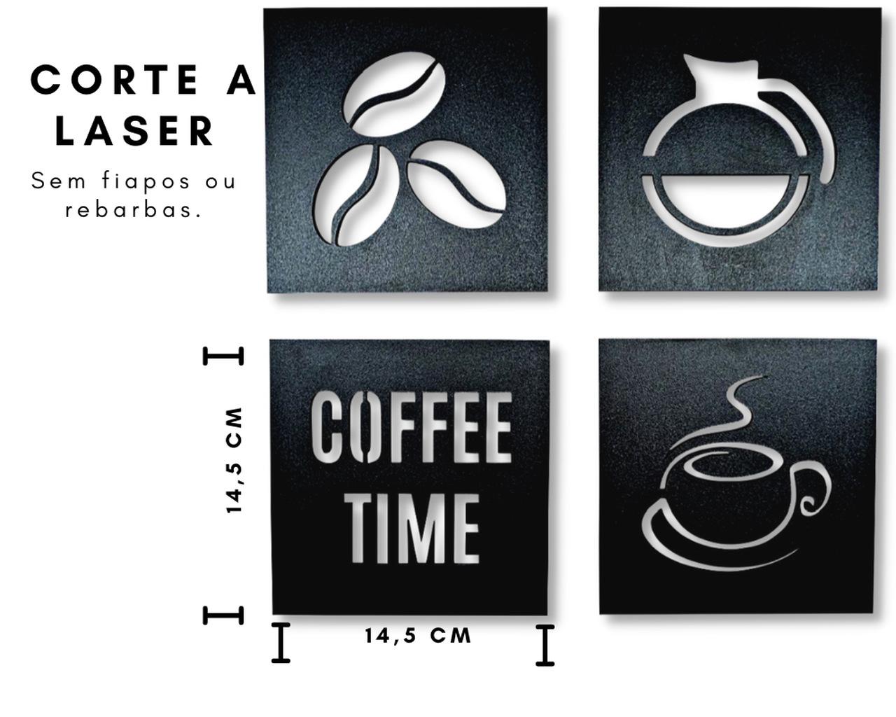 Quadros Cantinho do Café Cozinha Kit com 4