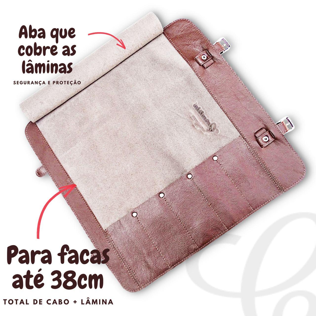 Kit Avental Cozinha Churrasqueiro + Estojo Para Facas