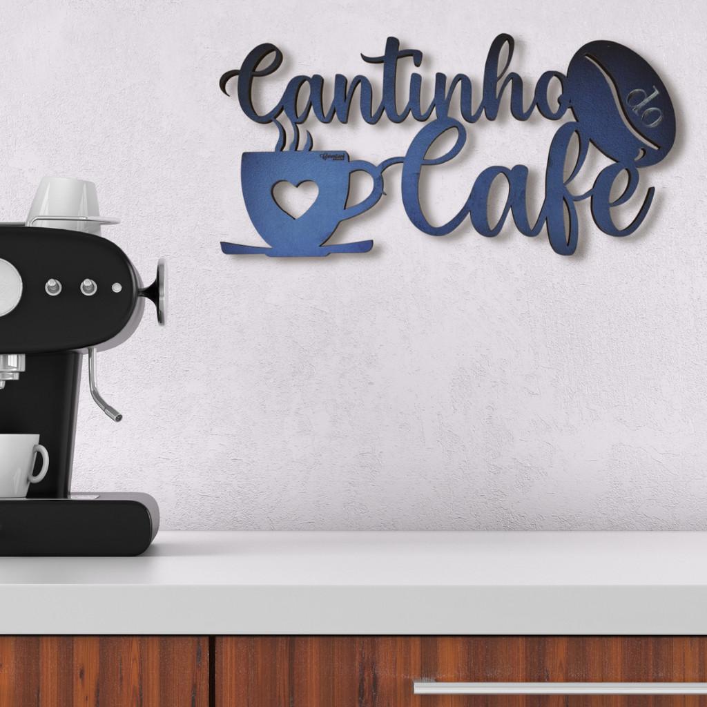 Placa Decorativa Cantinho do Café Cozinha Área Gourmet