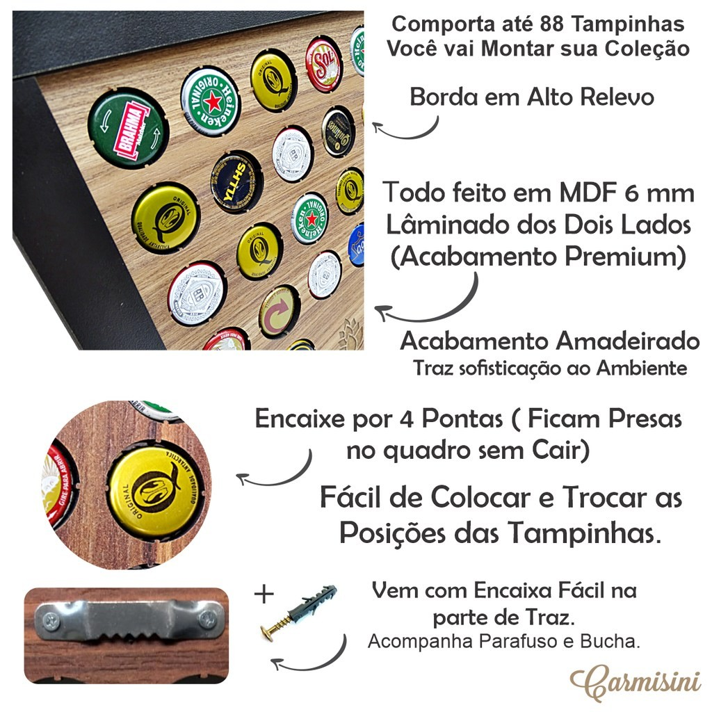 Porta Tampinha de Cerveja -BEER THE BEST -