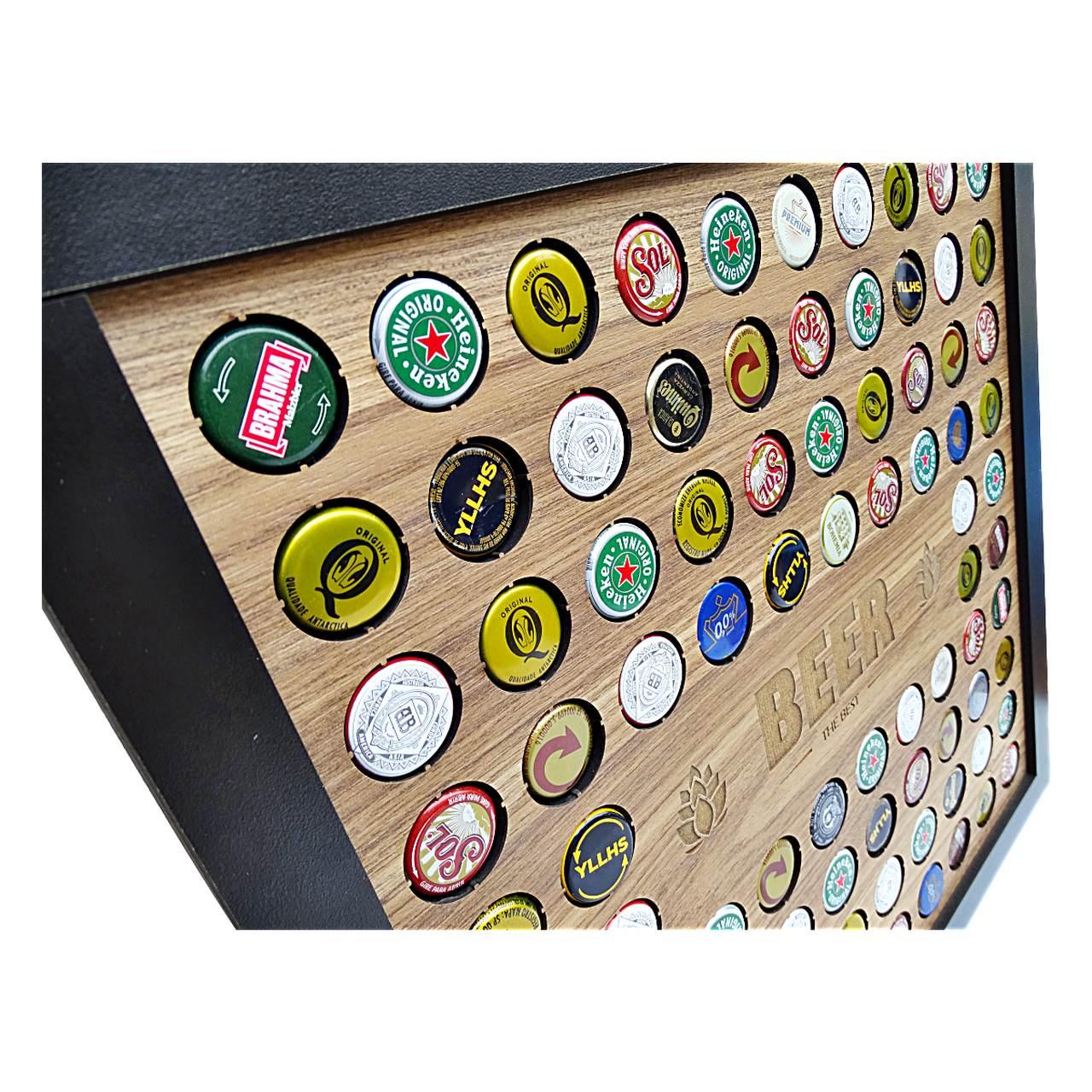 Porta Tampinha de Cerveja Decoração Moderna QD 20