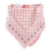 Babador bandana dupla face rosa - OshKosh