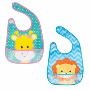 Babador com bolso Animal Fun - Buba