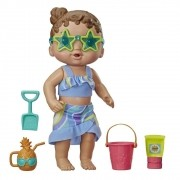 Baby Alive sol e areia morena - Hasbro