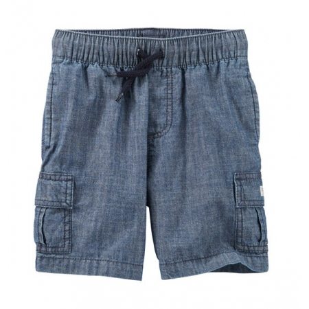 Bermuda cargo de elástico jeans - OshKosh