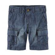 Bermuda cargo jeans cós reto - Carter's