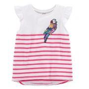 Blusa hi-lo listrada papagaio - Carter's