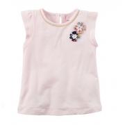 Blusa rosa claro flores - Carter's