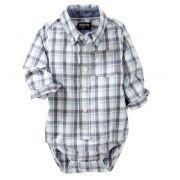 Body camisa xadrez - OshKosh