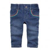 Calça jeans skinny arco-íris - Carter's