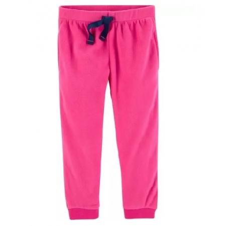 Calça jogger de fleece rosa - Carter's