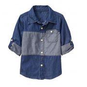 Camisa manga longa colorblock - GAP