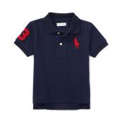 Camisa polo Big Pony preta - Ralph Lauren