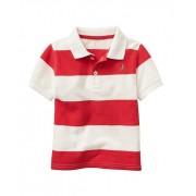 Camisa polo listrada vermelha - GAP