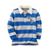 Camisa polo manga longa Rugby - Carter's