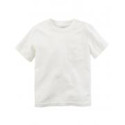Camiseta branca lisa com bolso - Carter's