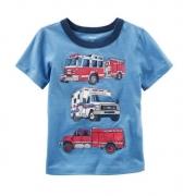 Camiseta caminhões bombeiro - Carter's