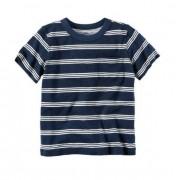 Camiseta listrada com bolso - Carter's