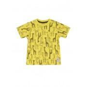 Camiseta manga curta amarela girafas - UP Baby