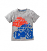 Camiseta manga curta Camionetas - Carter's