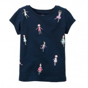 Camiseta manga curta dançarinas - Carter's