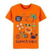 Camiseta manga curta Summer vibes - Carters