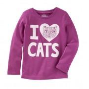 Camiseta manga longa Eu amo gatos - OshKosh