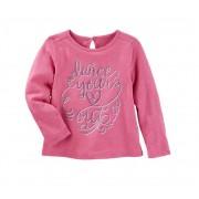 Camiseta manga longa rosa coração -  OshKosh