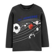 Camiseta manga longa universo esportivo - Carter's