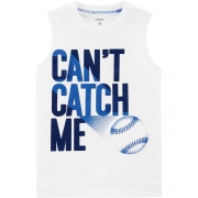 Camiseta regata branca Baseball - Carters