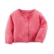 Cardigan de linha rosa pink - Carter's