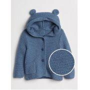 Casaco de lã urso azul - GAP