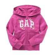 Casaco de moletom rosa bordado - GAP