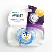 Chupeta freeflow pinguim 6-18M - Avent