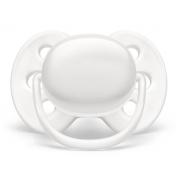 Chupeta Ultra Soft lisa unitária branca 0-6M - Avent