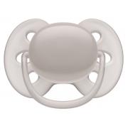 Chupeta Ultra Soft lisa unitária cinza 6-18M - Avent