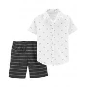 Conjunto bermuda e camisa Airplane - Carter's