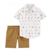 Conjunto bermuda e camisa Dinossauros - Carter's
