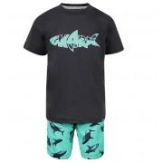 Conjunto Bermuda e Camiseta Tubarões - Vrasalon
