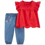 Conjunto calça e blusa flutter - Carters