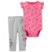 Conjunto calça e body regata flamingo - Carters