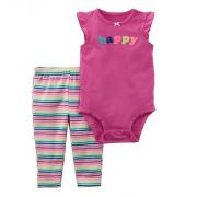 Conjunto calça e body regata Happy - Carter's