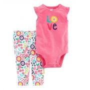 Conjunto calça e body regata Love - Carter's