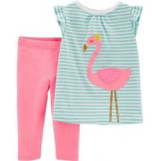 Conjunto legging capri e blusa flamingo - Carter's